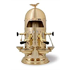 European Gift G-V2 Vfa Gold Dome 1930 Esspresso Machine