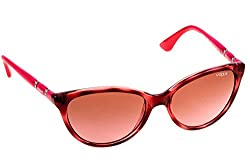 Vogue Gradient Oval Sunglasses (0VO2894SB235514Medium) (Top Havana and Pink Transp)