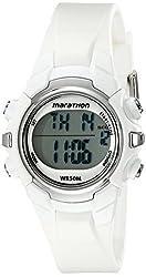 Timex Unisex T5K806M6 Marathon Digital Display Quartz White Watch