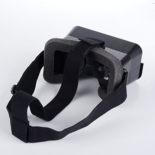 CQM 3D Virtual Reality Headset Google Cardboard Head Mount Plastic 3D VR Glasses 3D Video Games Glasses, Compatible with 4.7~5.5 inch Android and iOS Smartphones for 3D Movies and Games