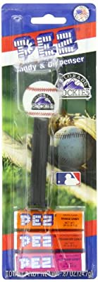 PEZ MLB Candy Dispensers, Colorado Rockies, 0.87 Ounce (Pack of 12)