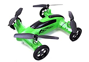 Syma X9 Flying Quadcopter Car Remote Control Car and Quadcopter Drone Exclusive Green Colorway