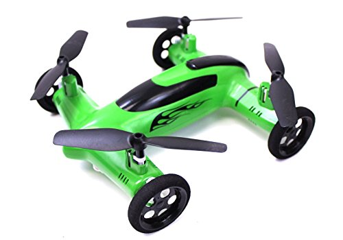 Syma X9 Flying Quadcopter Car Remote Control Car and Quadcopter Drone Exclusive Green Colorway (Flying Remote Control compare prices)