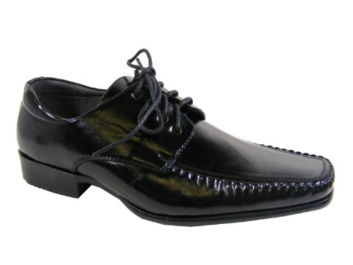 New Boys Kids Black Lace Up Formal Wedding Suit Shoes Work Party Shoe Size Sz 2