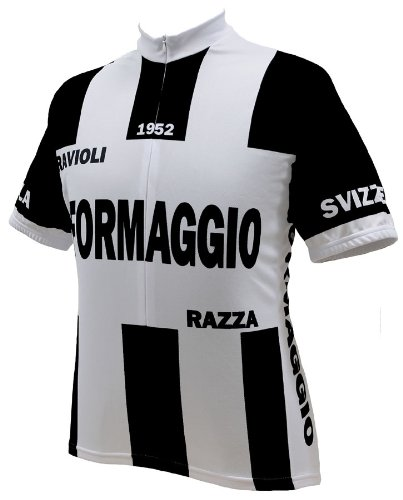 Image of Formaggio Retro 1952 Mens Cycling Jersey bike bicycle (B007OZ91HM)