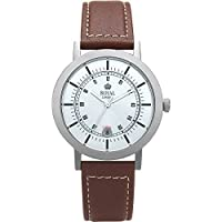 Gents Slim Titanium Brown Leather Watch