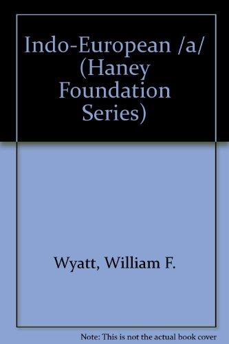 Indo-European /a/ (Haney Foundation Series)
