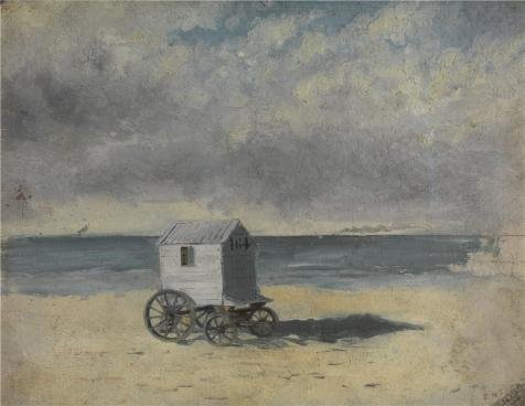 'James Ensor - Bathing Hut,1876' Oil Painting, 8x10 Inch / 20x26 Cm ,printed On Perfect Effect Canvas ,this Replica Art DecorativeCanvas Prints Is Perfectly Suitalbe For Basement Gallery Art And Home Decor And Gifts