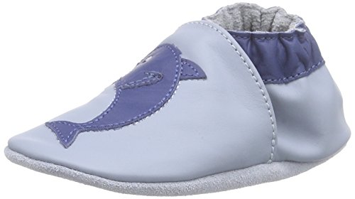 RobeezSPIKE - Scarpine e pantofole primi passi  Unisex - Bimbi 0-24 , Blu (Blau (BLEU DENIM)), 17/18