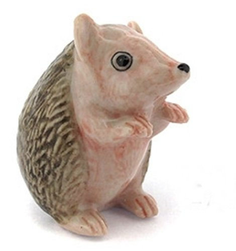 3 D Ceramic Toy Porcupine No.1 Dollhouse Miniatures Free Ship