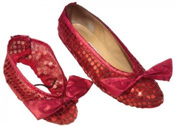 Wizard Of Oz Red Shoe Covers Adult