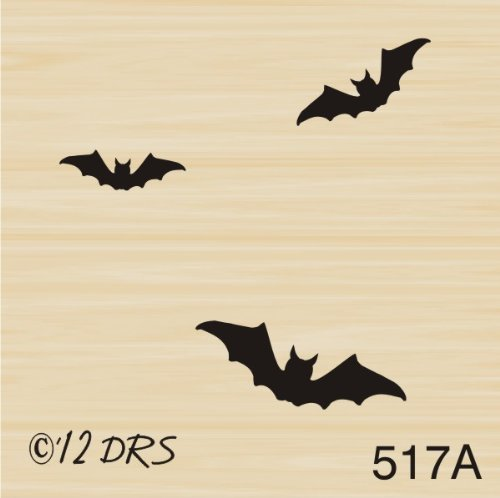 Accent Bats Rubber Stamp By DRS Designs