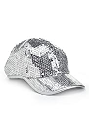 High Top Sequin Embellished Cap