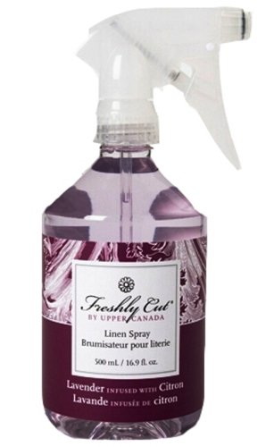 Upper Canada Soap And Candle Freshly Cut Linen Mist In Lavender Infused With Citron, 16.9-Ounce Bottle (Pack of 2)