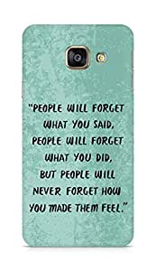 AMEZ people will forget what you said did Back Cover For Samsung Galaxy A3 (2016 EDITION)