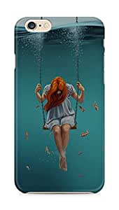 Amez designer printed 3d premium high quality back case cover for Apple iPhone 6 plus (Swing Art Painting Girl Dark)