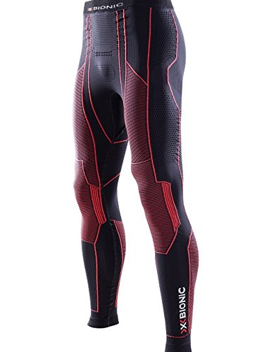 X-Bionic pantalon long pour homme moto energizer/i020288-b102/collant long pour homme noir rouge