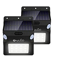 2-Pack OxyLED OxySol SL07 Dual Motion Sensors Solar Wall Light