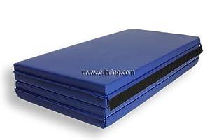 """Bonded Foam Gymnastics Mat - 4' x 8' x 2"""" Blue by ORBRING"""