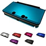 Nintendo 3DS (Not for 3DS XL) Aluminum Metal Poly Case Skin Protector Cover + Free Screen Protectors (Many Colors Available)