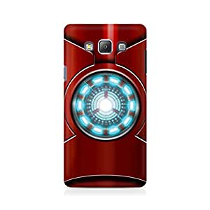 Motivatebox- Iron Man's Heart Premium Printed Case For Samsung On 5 -Matte Polycarbonate 3D Hard case Mobile Cell Phone Protective BACK CASE COVER. Hard Shockproof Scratch-