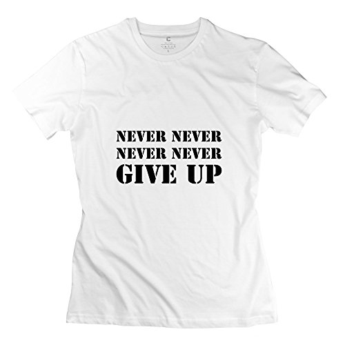 Tgrj Women'S T-Shirts - Vintage Never Never Never Never Give Tee White Size S