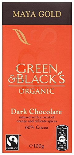 Green and Black's Organic Dark Chocolate Maya Gold 100 g (Pack of 5)