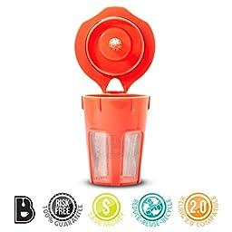Brewooze® Keurig Carafe Kcup - Reusable, Refillable K Cup - Carafe Keurig Coffee Filter Crafted for K500, K400, K300 and K200 Models