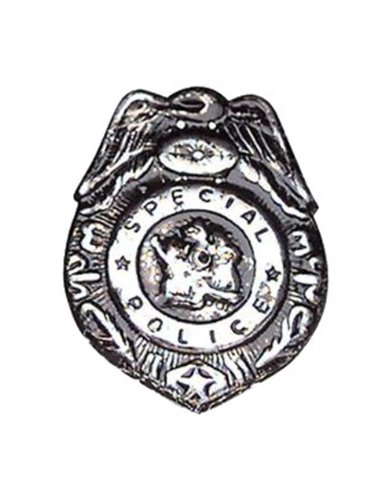 Dozen Metal Cop Sheriff Deputy Police Officer Badge Costume Accessory