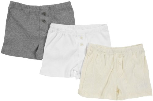 Burt'S Bees Baby Little Boys' 3-Pk Boxer - Ivory/Heather Grey/Cloud - 4T front-1022280