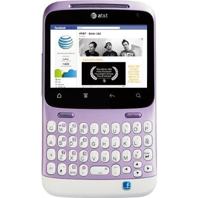 Link to HTC Status ChaCha A810a Unlocked Phone with QWERTY Keyboard, 5MP Camera, Wi-Fi and GPS – US Warranty – Mauve/White Discount !!