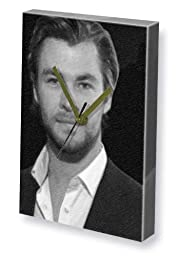 CHRIS HEMSWORTH - Canvas Clock (A4 - Signed by the Artist) #js003