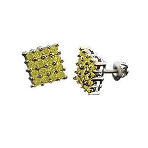 Click to buy Men's Yellow Canary Diamond Earrings from Amazon!