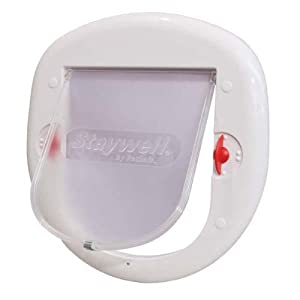 PetSafe Staywell Big Cat 4-Way Locking Flap, White