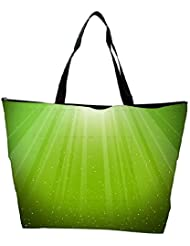 Snoogg Green Background Designer Waterproof Bag Made Of High Strength Nylon