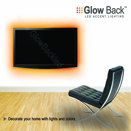 LED Tv Accent Lighting . Complete Kit with Remote to Change Color Easy to Install. Get Ready for Holidays.
