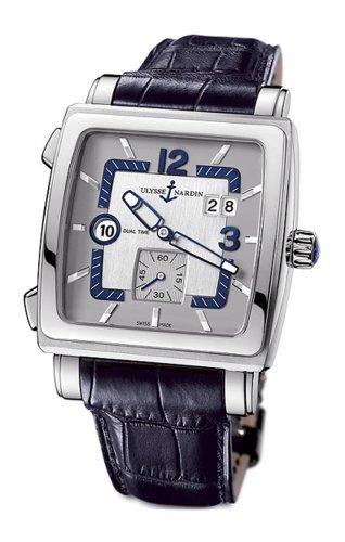 Ulysse Nardin Men's 243-92/601 Quadrato Dual Time Watch