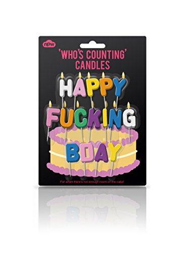 NPW Who's Counting Candles, Happy F--king Bday Birthday Candles - 1