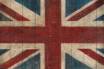 Union Jack Art Poster Print by Avery Tillmon, 36x24