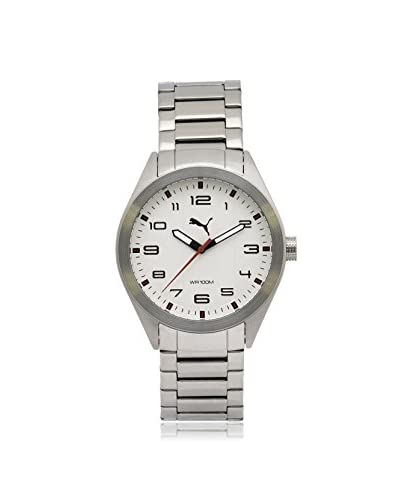 Puma Men's PU103321001 Silver/White Stainless Steel Watch