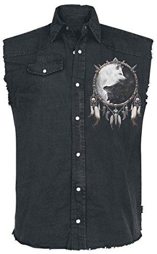 Spiral Wolf Chi Camicia senza maniche nero XXL