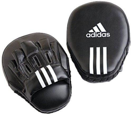 Adidas Focus Mitts Leather - Black - 10