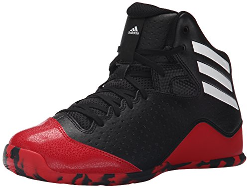 adidas Performance Men's Next Level Speed 4 Basketball Shoe,Black/White/Scarlet,9 M US
