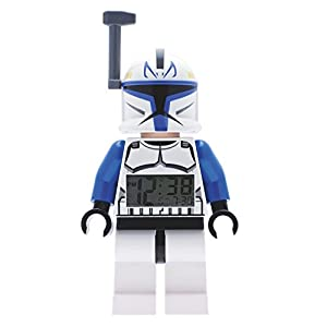 LEGO Plastic Star Wars Captain Rex Minifigure Alarm Clock, Multi-Colour