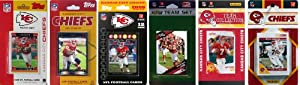 NFL Kansas City Chiefs Six Different Licensed Trading Card Team Sets by C&I Collectables