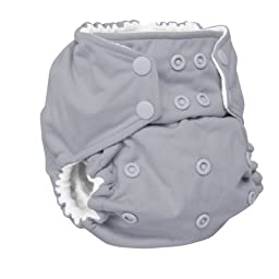 Rumparooz One Size Cloth Pocket Diaper Snap, Platinum