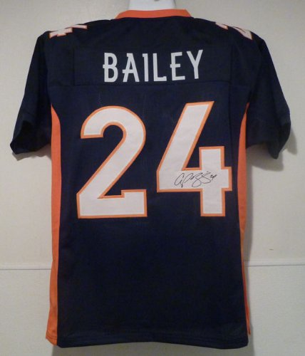 Champ Bailey Autographed Denver Broncos blue size XL jersey at Amazon.com