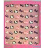 Hello Kitty 3D Glitter Nail Art Stickers DIY one Pack per order
