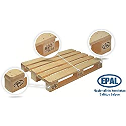 Pack 5 Europalets EPAL 1200x800mm
