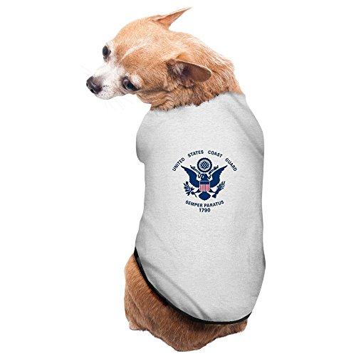 Pets United States Coast Guard Flag Tshirt Gray
